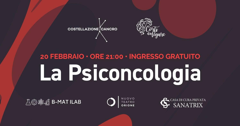 psiconcologia 20 febbraio teatro orione